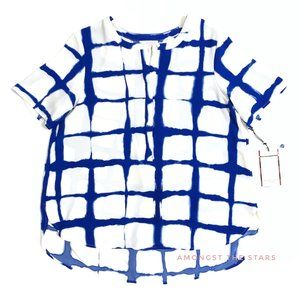 Adam Lippes for Target Painterly Windowpane Blouse